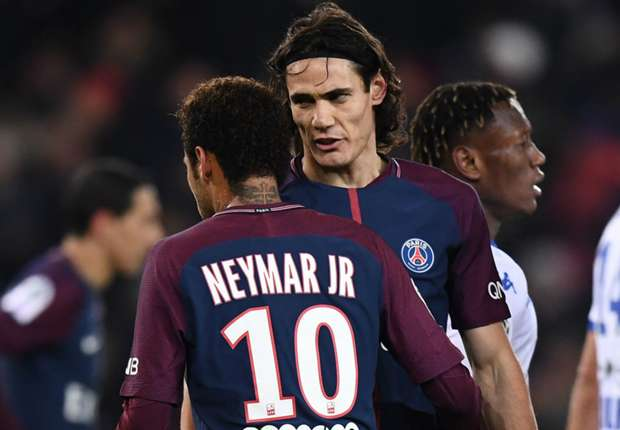 c80d0cee619dd VIDEO  Edinson Cavani and Neymar clash again in latest PSG penalty debacle  against Troyes - Goal.com