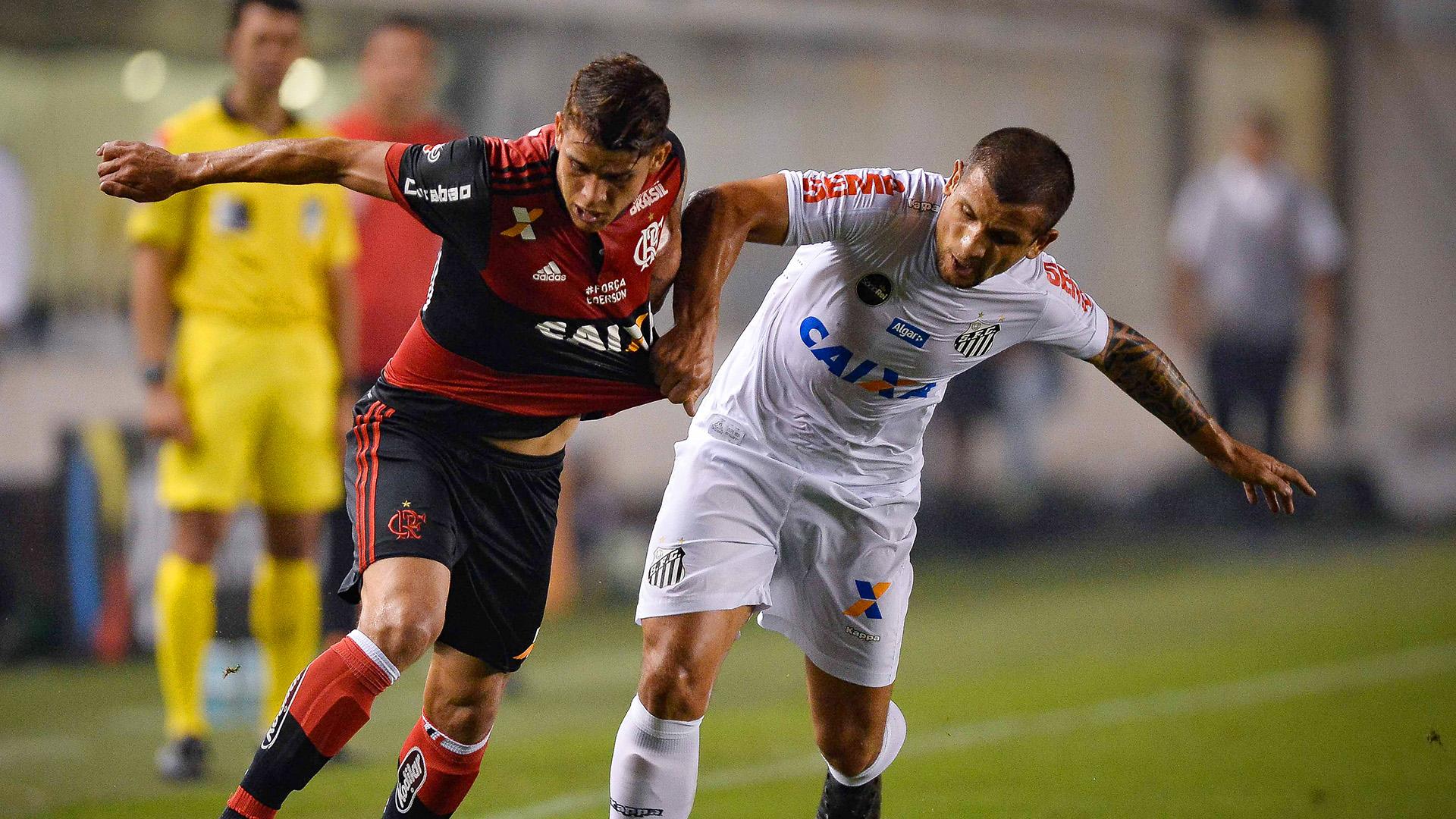 Gustavo Cuellar Emiliano Vecchio Santos Flamengo Copa do Brasil 26072017