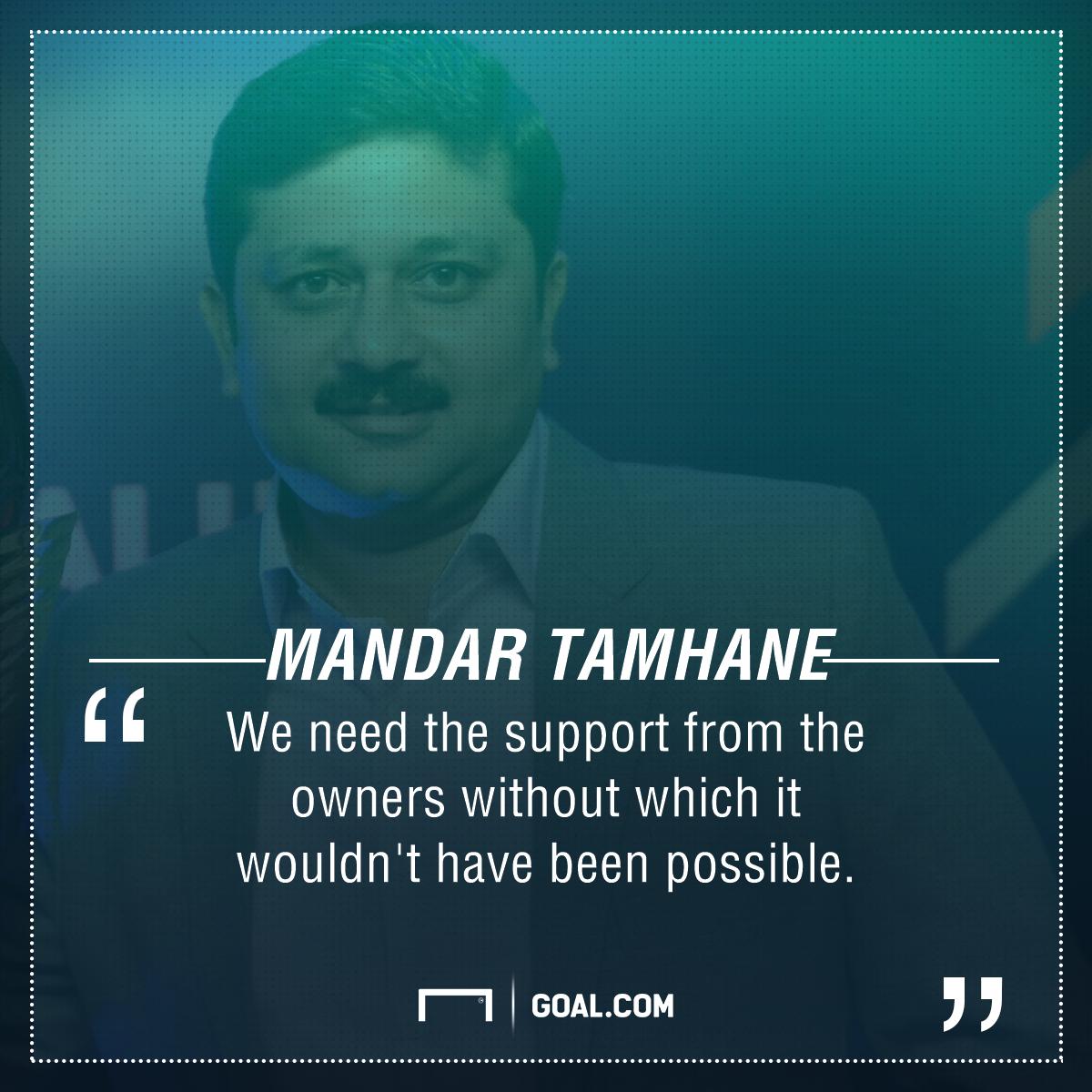 Mandar Bengaluru FC Quote