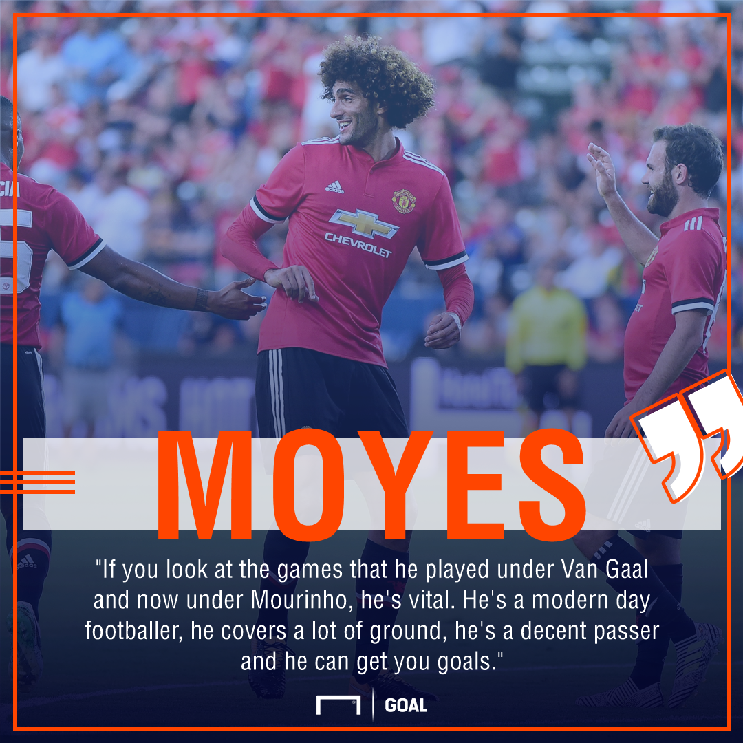 David Moyes Marouane Fellaini Manchester United