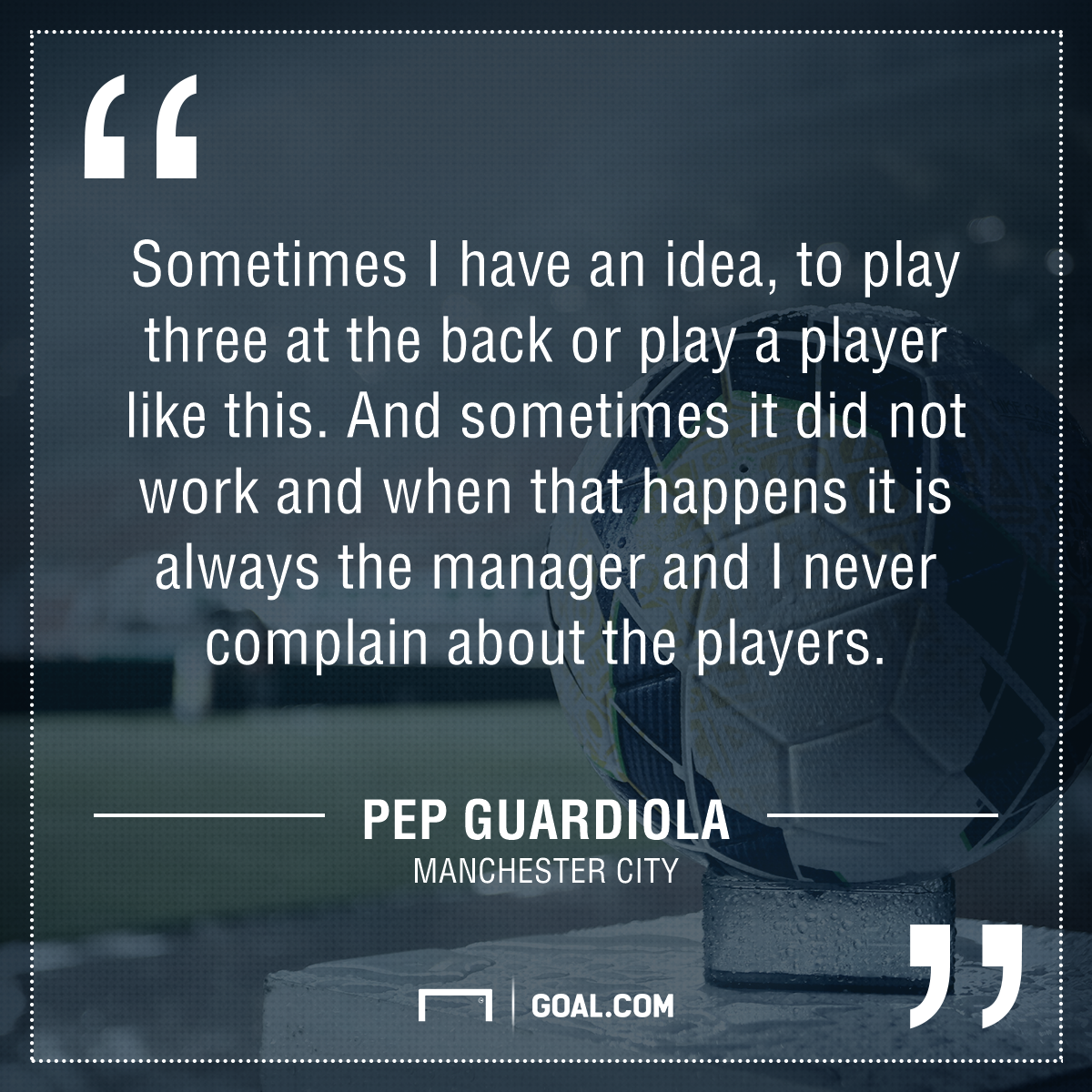 Guardiola quote mistake