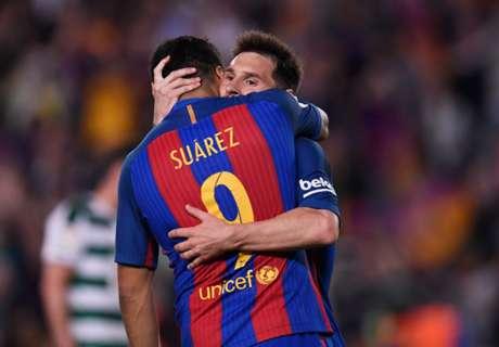 El saludo de Suárez a Messi