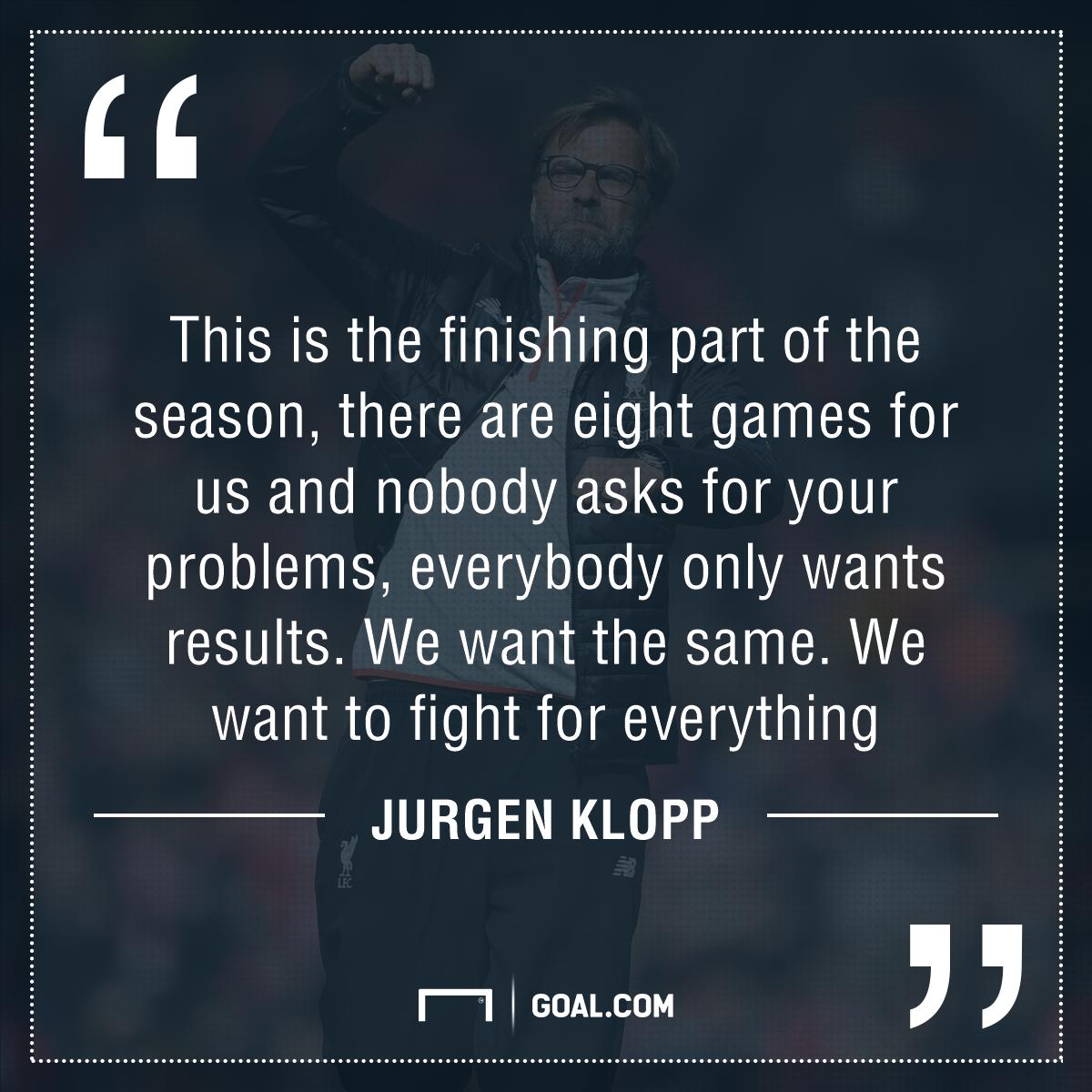 GFX Jurgen Klopp Liverpool quote