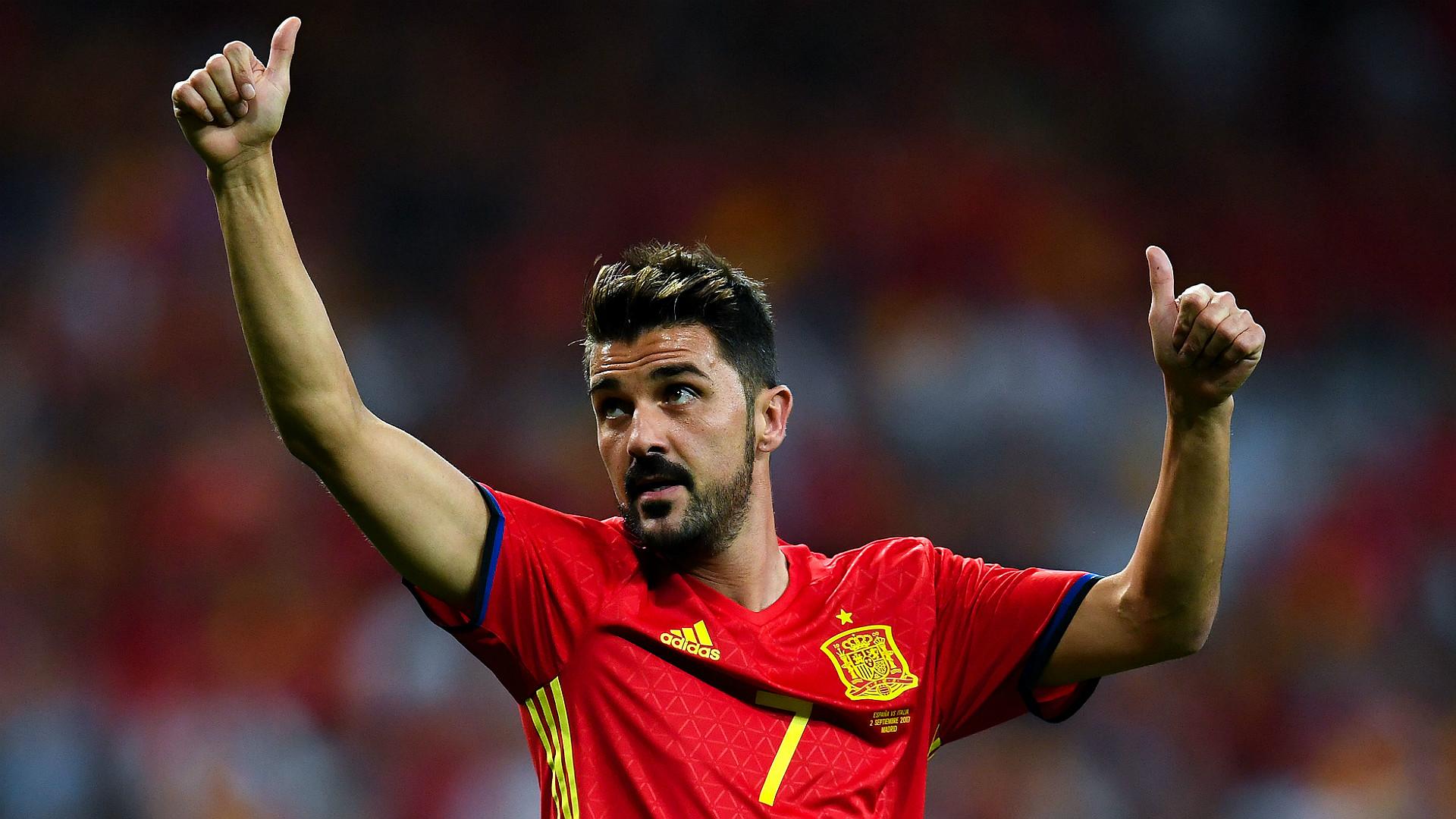 David Villa Spain Italy WC Qualifiers