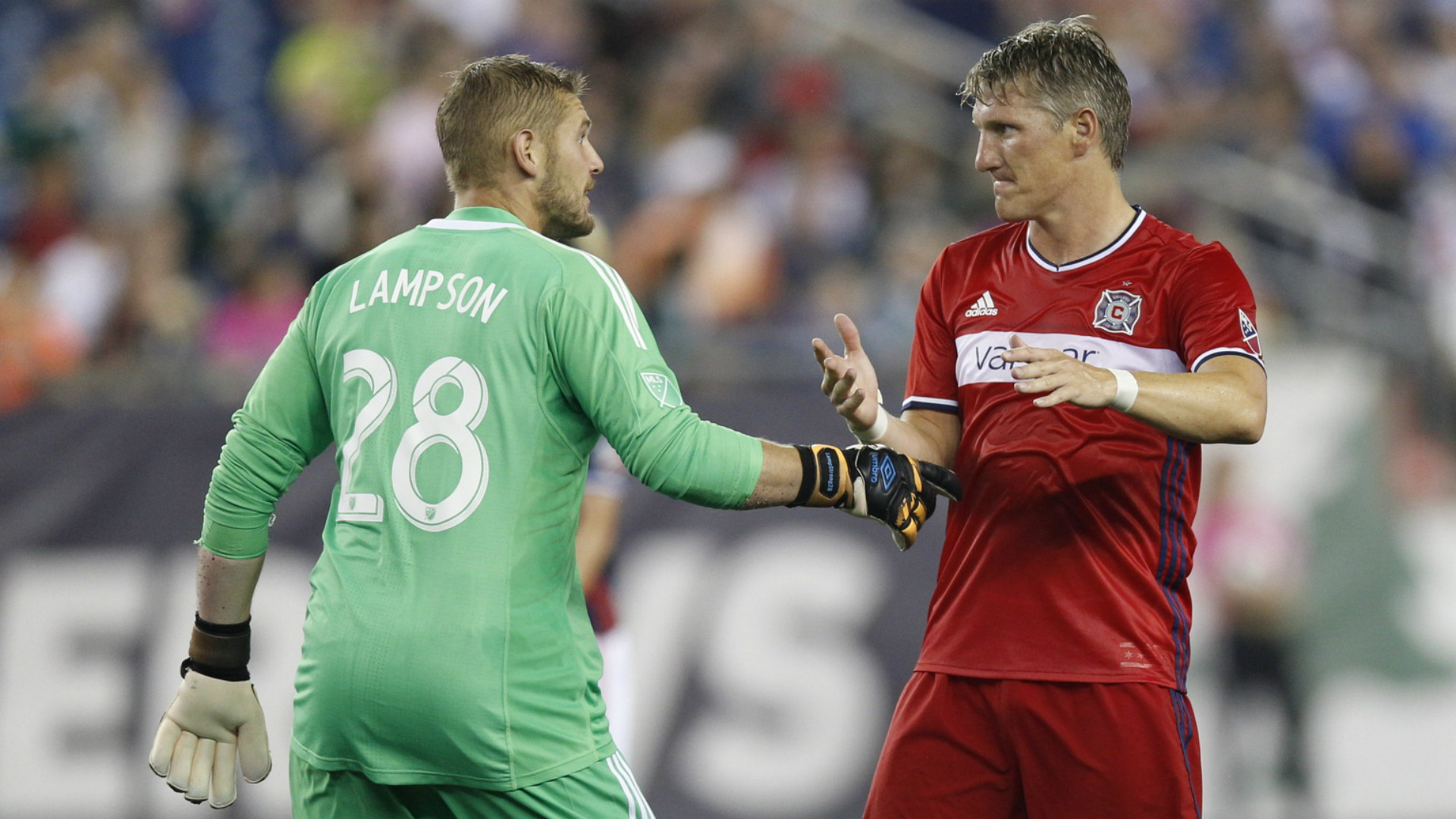 Bastian Schweinsteiger Matt Lampson MLS Chicago Fire 06172017