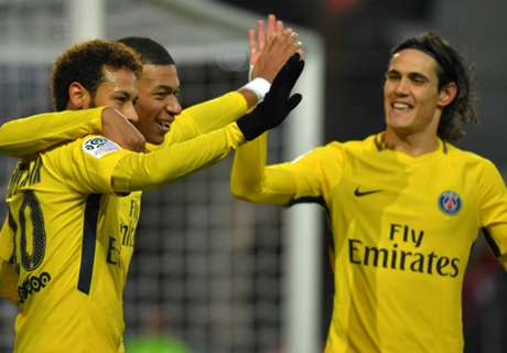Neymar on target twice as PSG rout Rennes