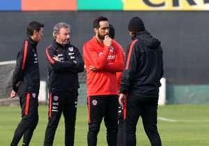 Esta jornada se desarrolló formalmente el primer entrenamiento del elenco de Juan Antonio Pizzi con miras a la Copa Confederaciones.