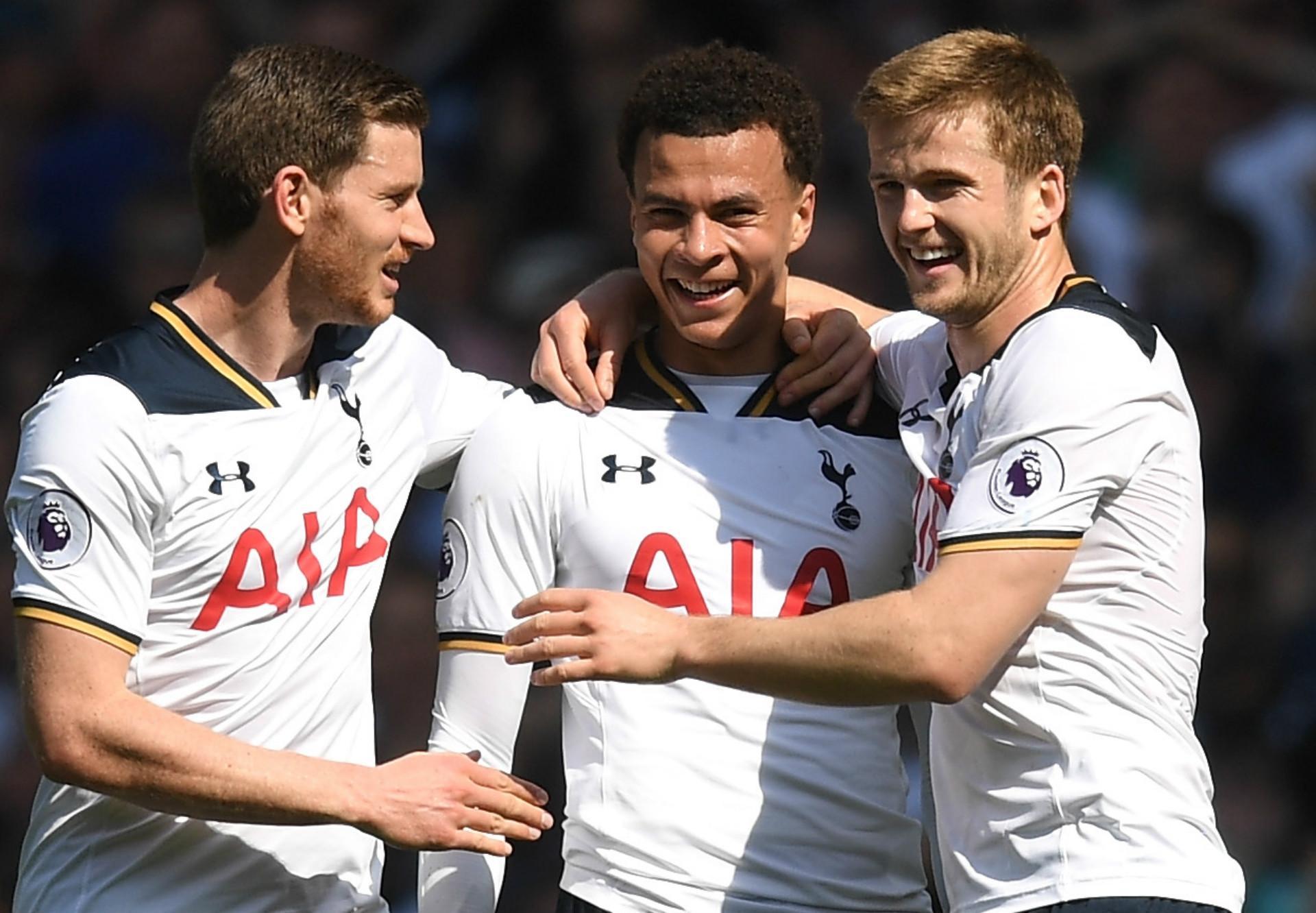 Jan Vertonghen, Dele Alli, Eric Dier, Tottenham Hotspur, Premier League, 04052017
