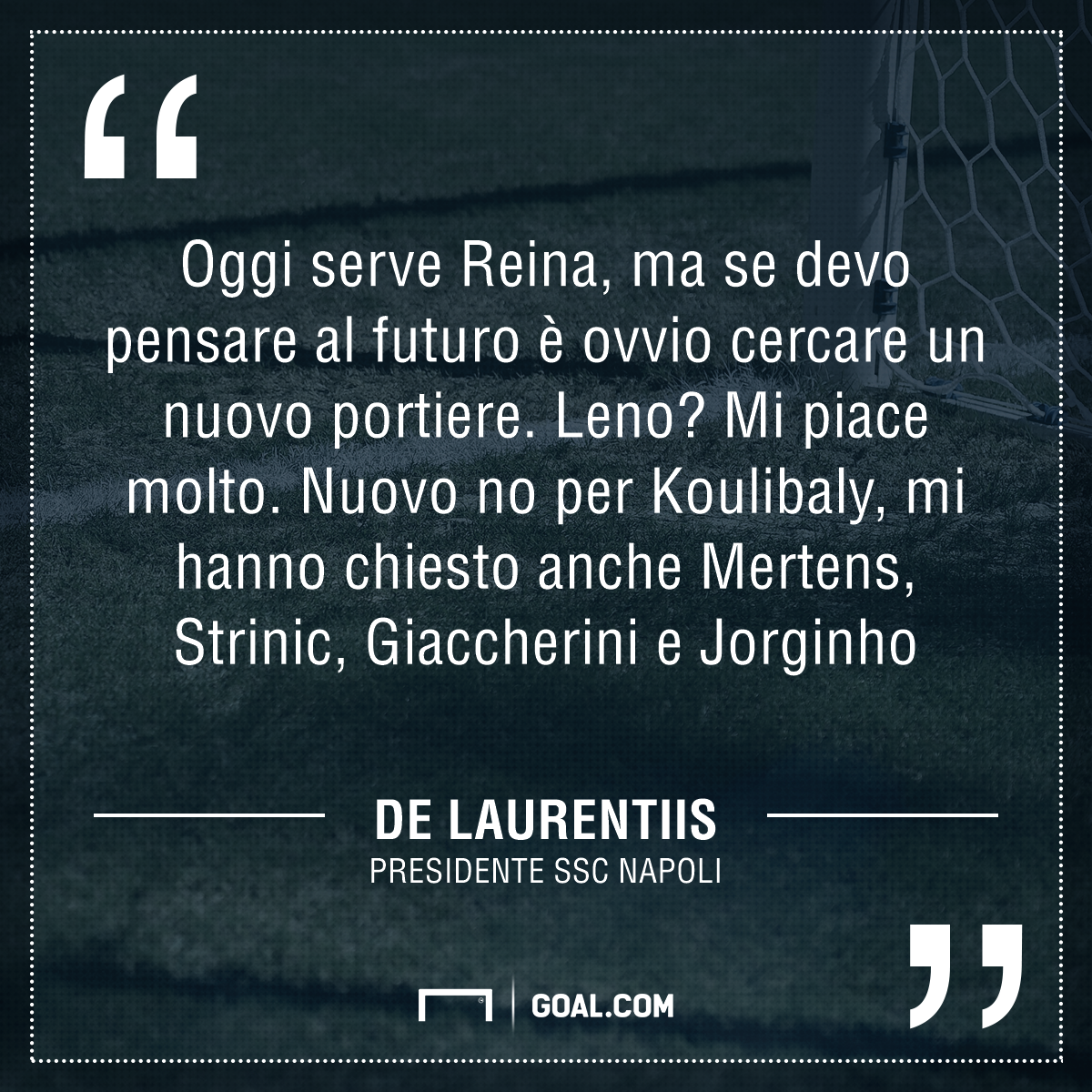Napoli, incredibile scenario: Reina potrebbe finire al Porto