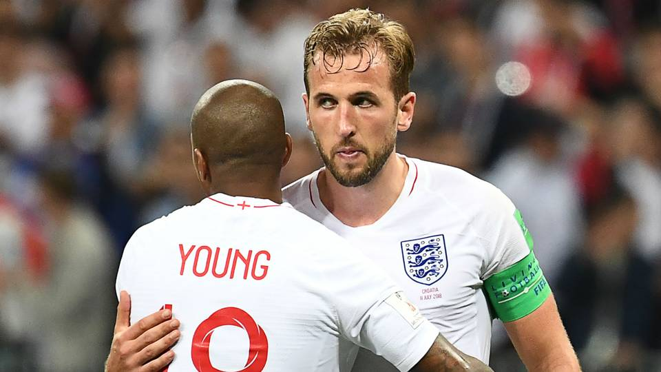 Harry Kane Ashley Young England World Cup
