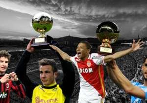 Penyerang belia Paris Saint-Germain Kylian Mbappe merengkuh trofi Golden Boy 2017 sebagai pemain Eropa terbaik di bawah usia 21. Simak lis lengkap pemenang penghargaan ini sejak pertama diadakan pada 2003.
