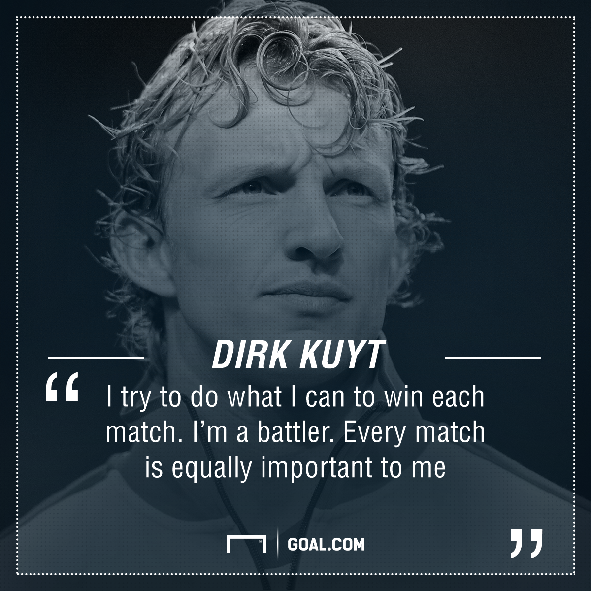 GFX Dirk Kuyt quote