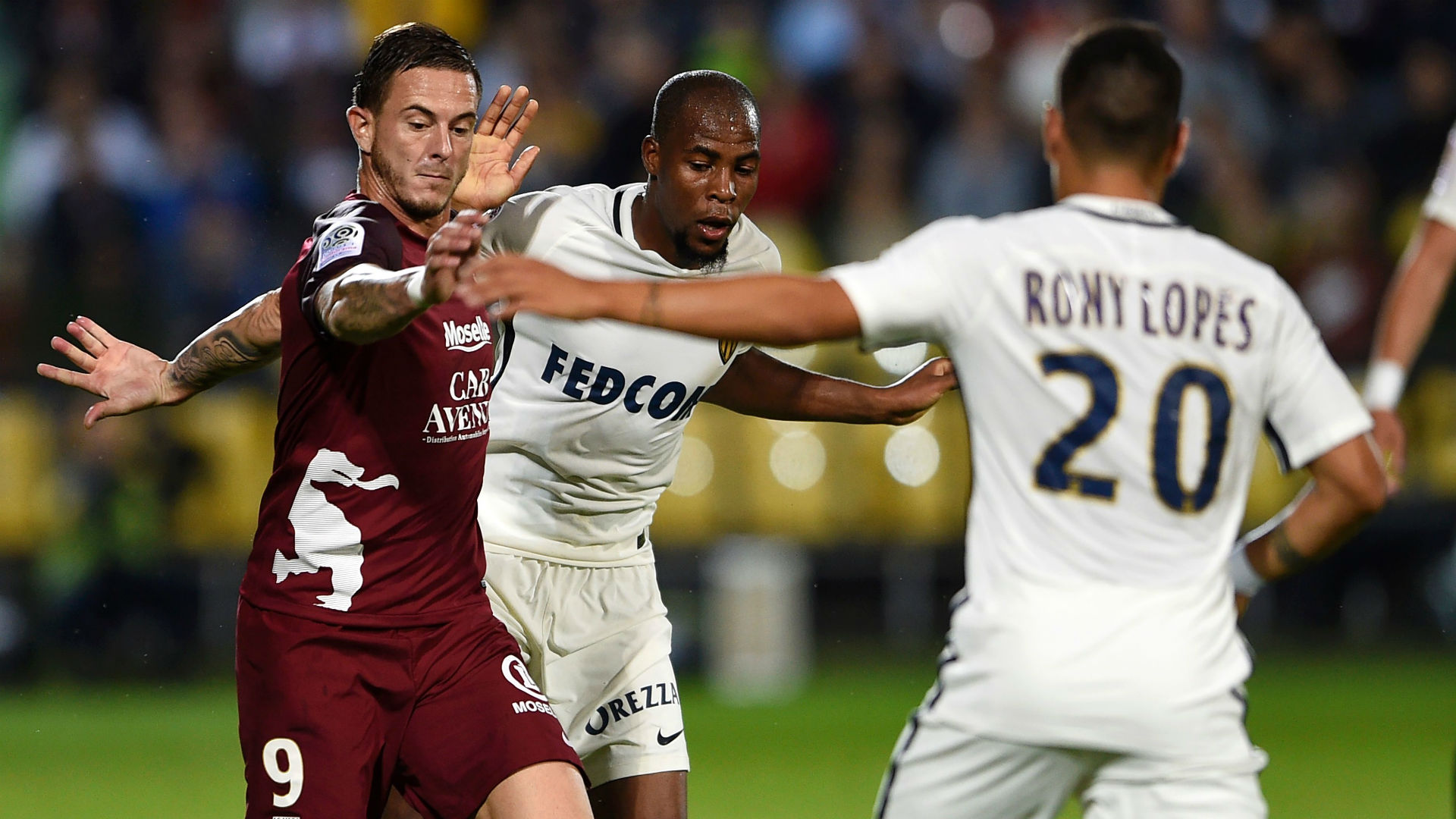 Monaco s'impose difficilement à Metz