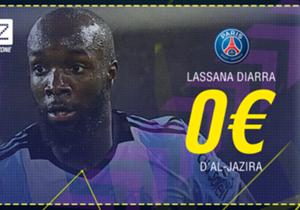 Lassana Diarra - D'Al-Jazira au Paris Saint-Germain - Bail rompu - Contrat à Paris d'un an et demi.