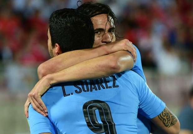 Uruguay, Luis Suarez et Edinson Cavani dans la liste de 26 pour la Coupe du monde 2018