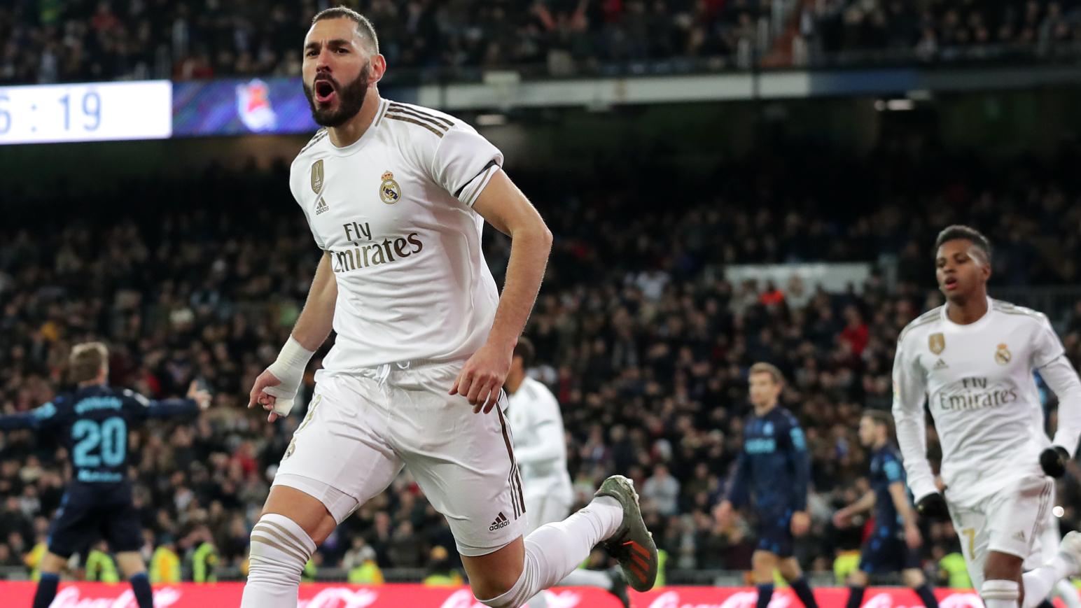 Real Madrid-Real Sociedad 3-1, Benzema et le Real sont prêts pour Paris