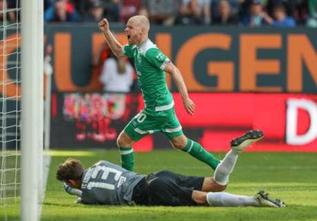 Klaassen schiet Bremen naar zege na enorme keepersblunder