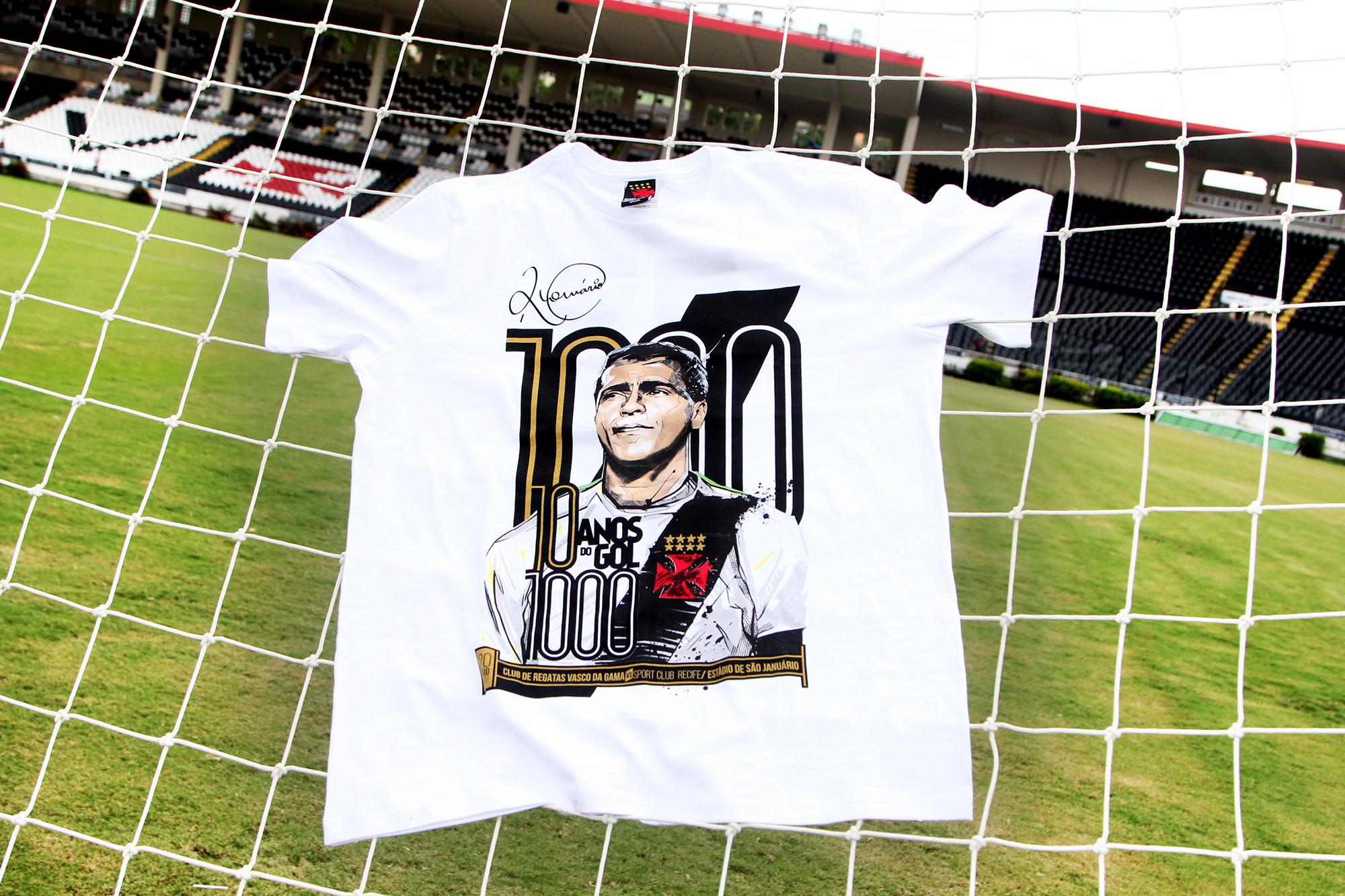 Vasco lança camisa comemorativa aos dez anos do gol mil de Romário