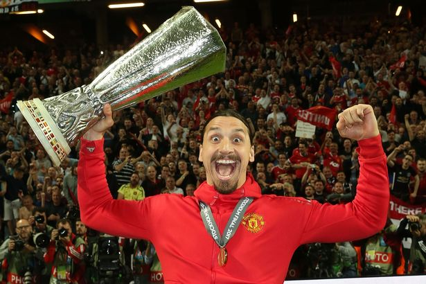 Zlatan ibrahimovic europa league final happy manchester united
