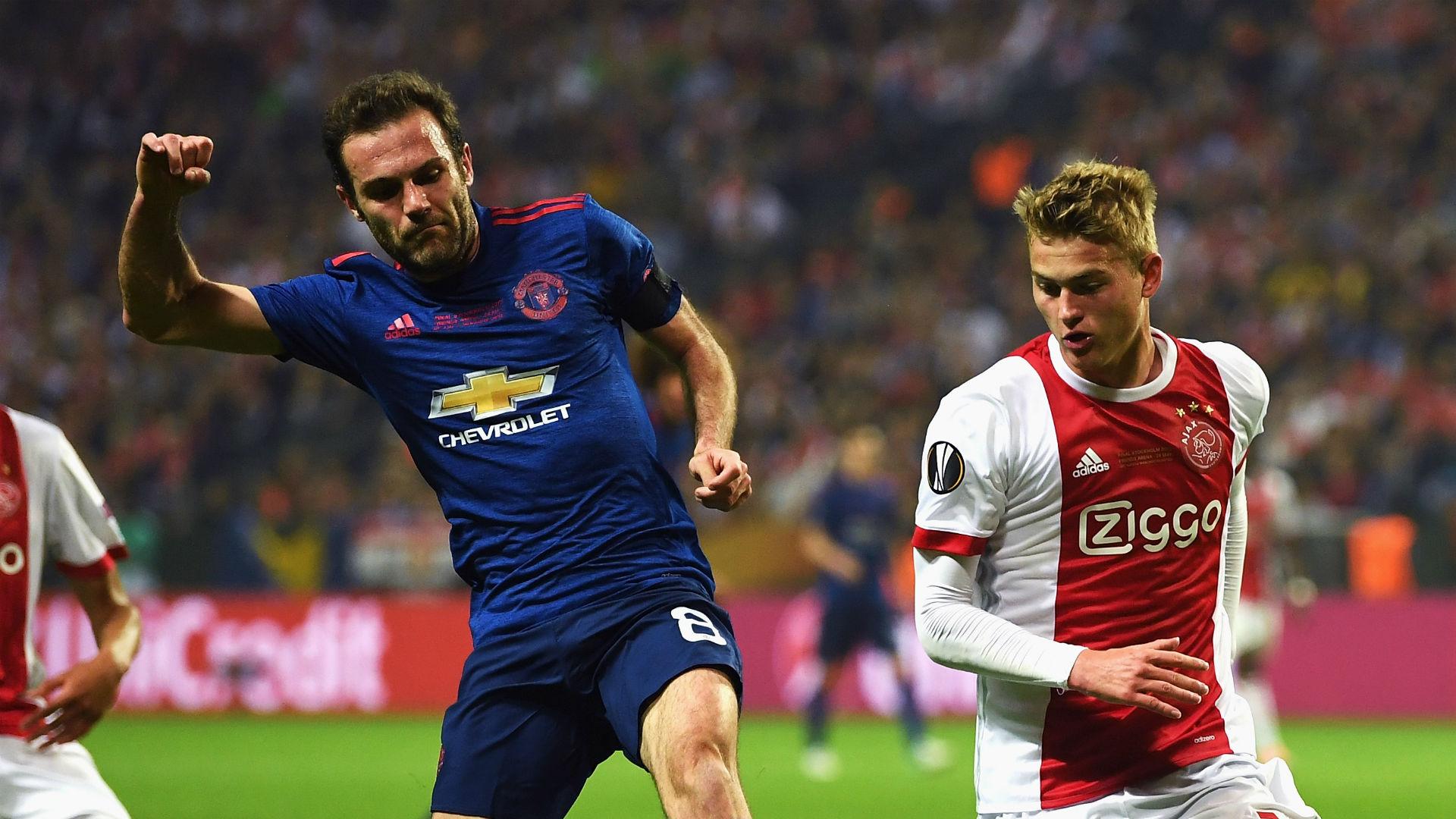 Juan Mata Joel Veltman Manchester United Ajax Europa League final