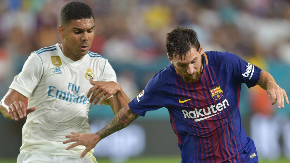 Casemiro Real Madrid Lionel Messi Barcelona ICC
