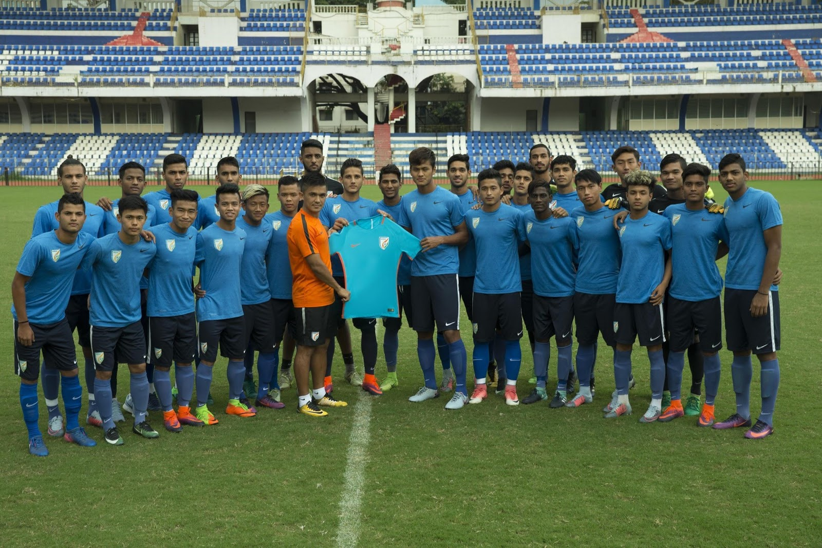 India U17 team jersey