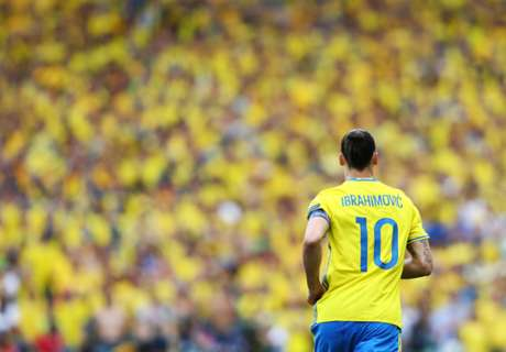 Ibra walks of as a legend for Sweden