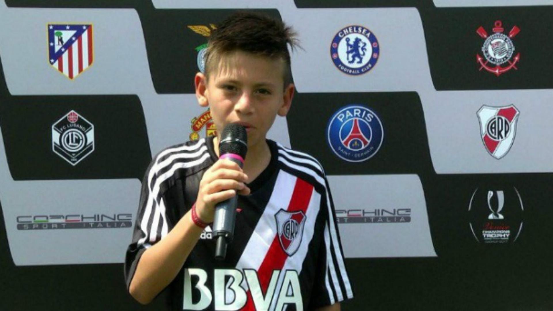 La joya de 11 años de River que la rompió ante Juventus