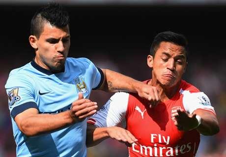 Alexis y Agüero, los mejores