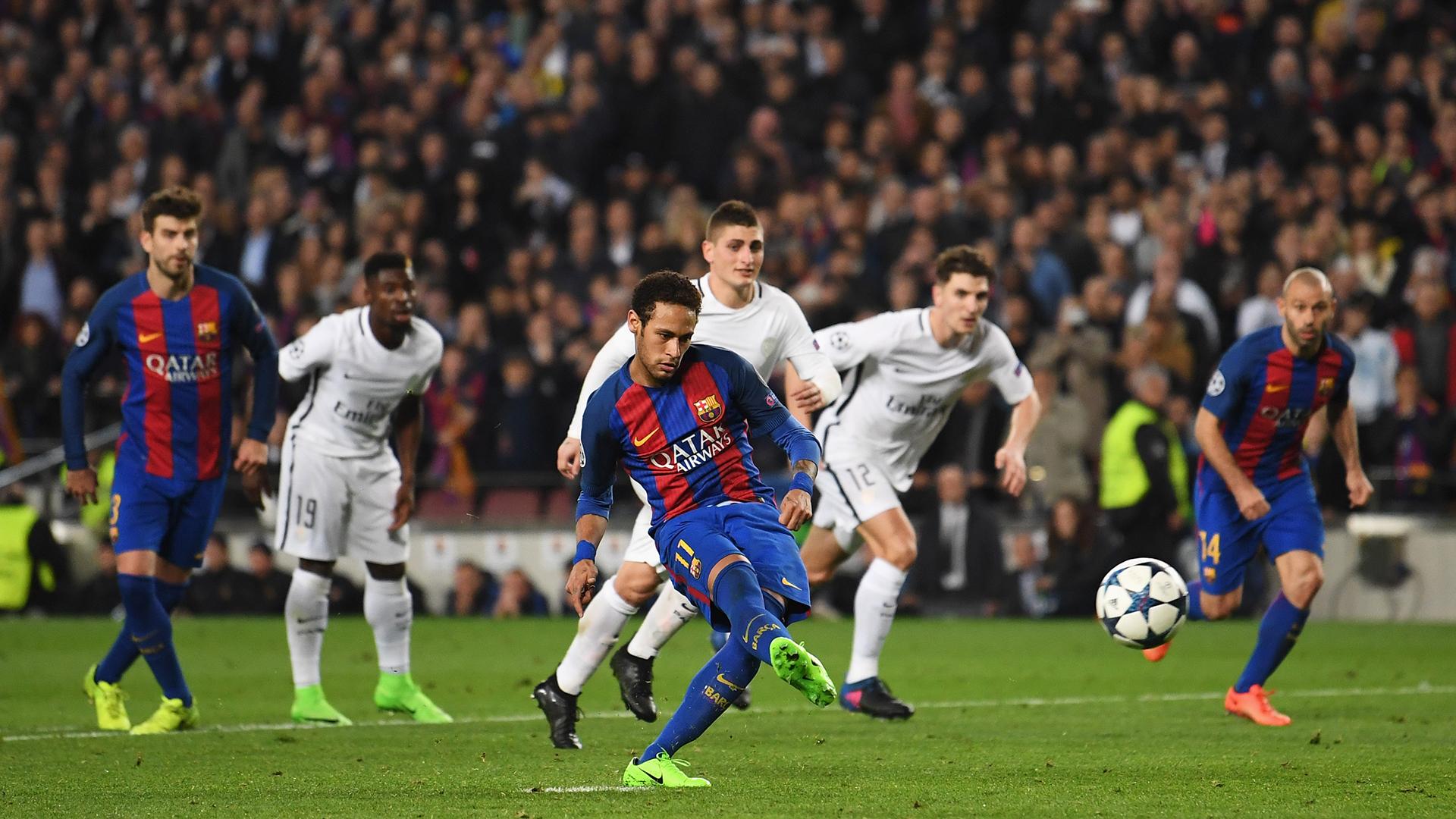 Neymar Barcelona PSG Champions League