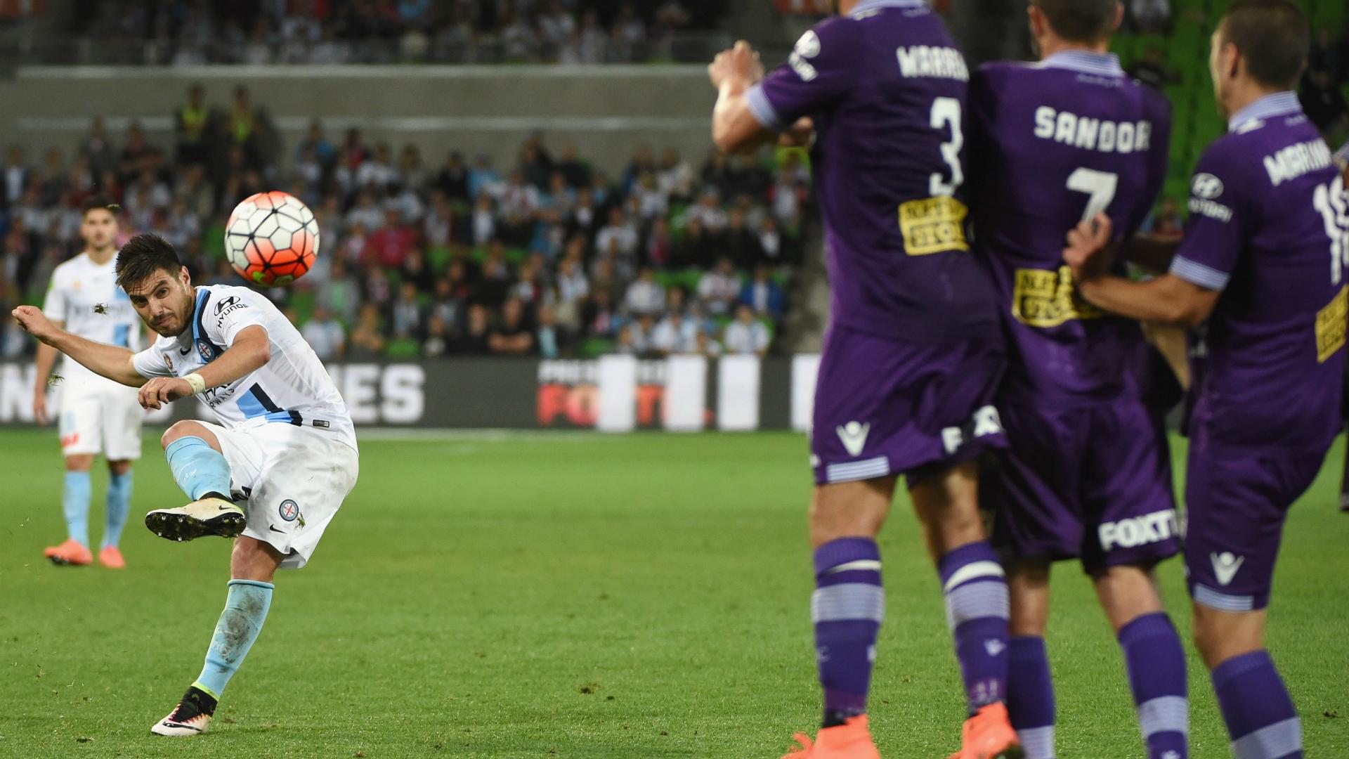 Bruno Fornaroli Melbourne City v Perth Glory A-League 17042016