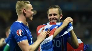 KOLBEINN SIGTHORSSON GYLFI SIGURDSSON ICELAND UEFA EURO 27062016