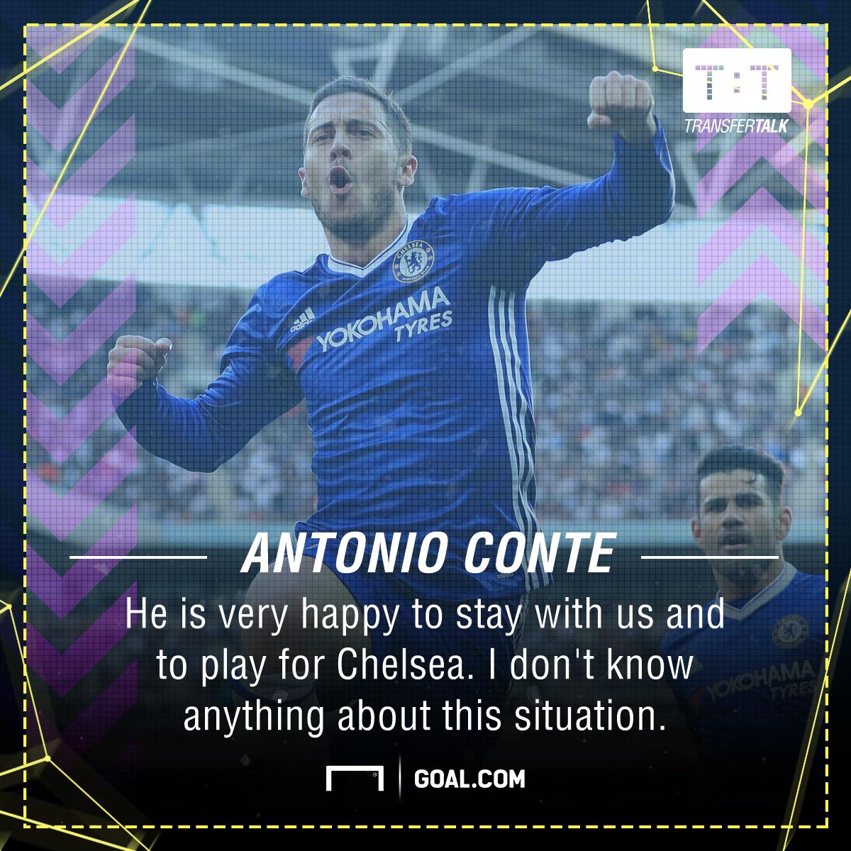 Eden Hazard Antonio Conte Chelsea Barcelona