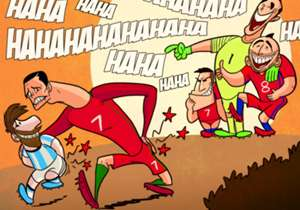 Cristiano Ronaldo now knows how Lionel Messi feels after Chile kicked both their asses in international tournaments.
