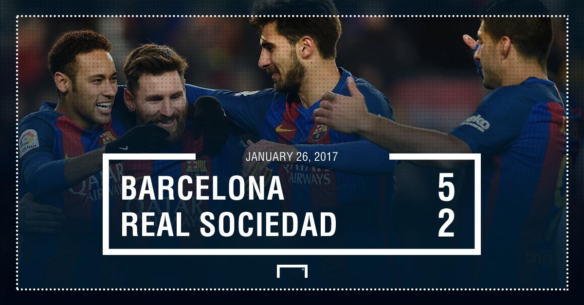 Barcelona Real Sociedad result