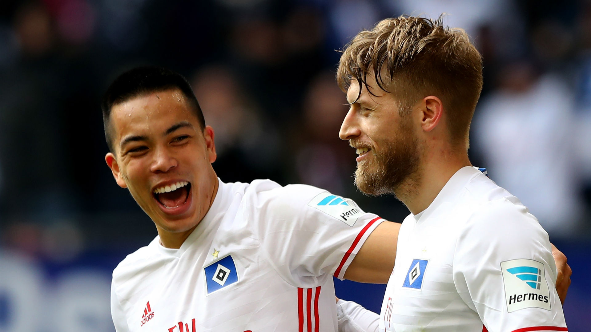 Bobby Wood Aaron Hunt Hamburg Bundesliga 040817