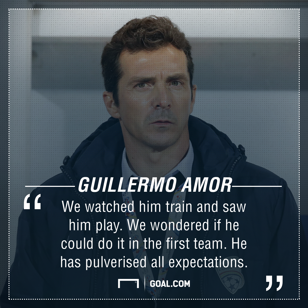 Guillermo Amor quote Messi