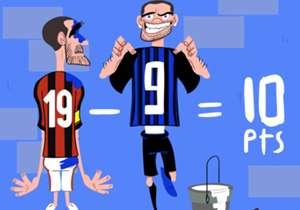 Icardi a donné, à lui seul, une leçon à Bonucci et à l'AC Milan lors du derby de la Madonnina.