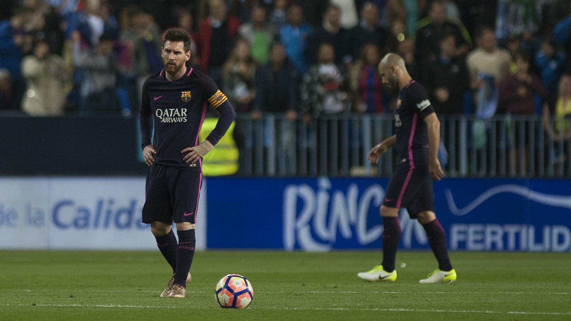 Liga: il Barcellona crolla 2-0 a Malaga. Espulso Neymar