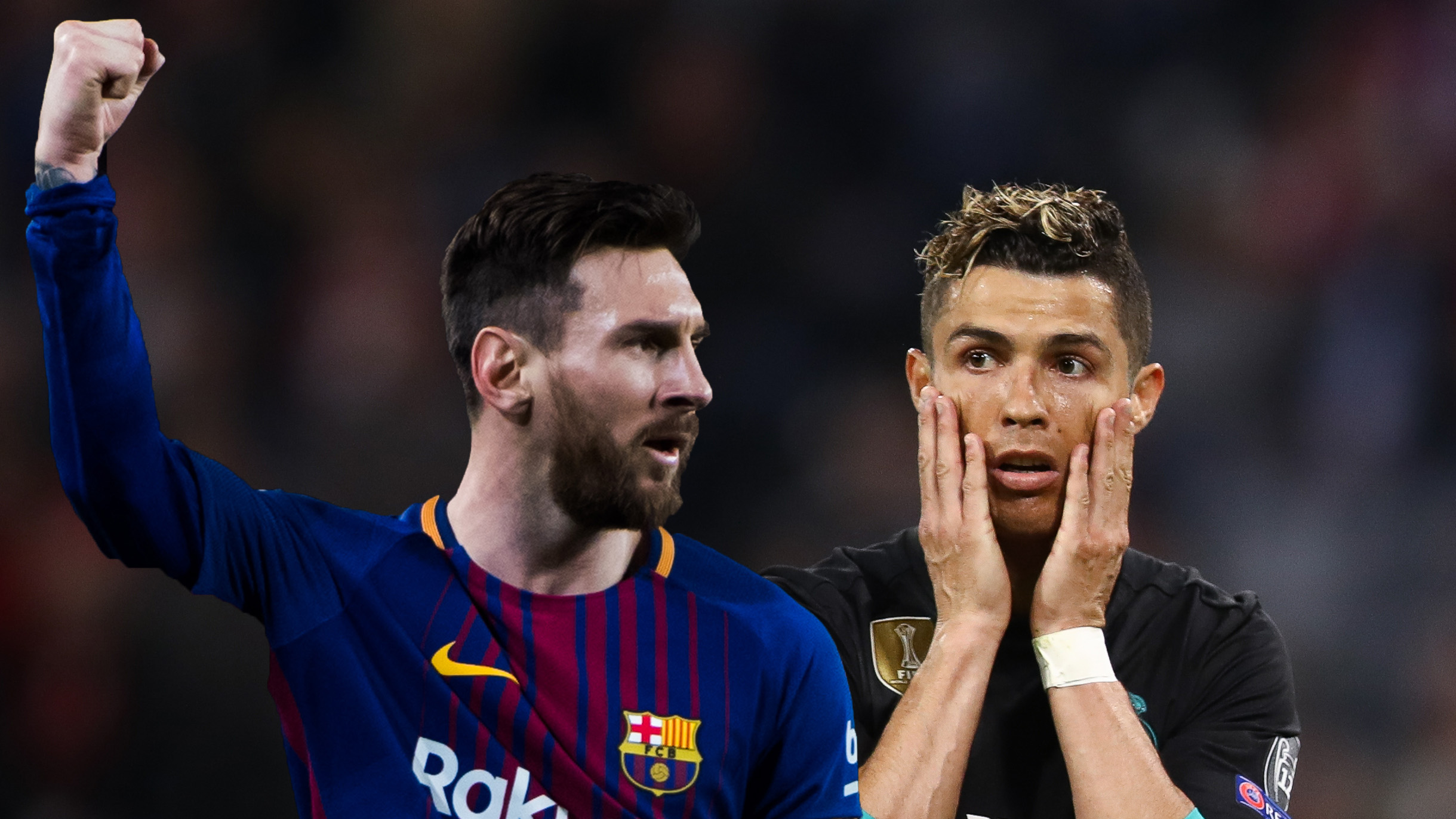 Messi and Ronaldo come together to make up the combined ...