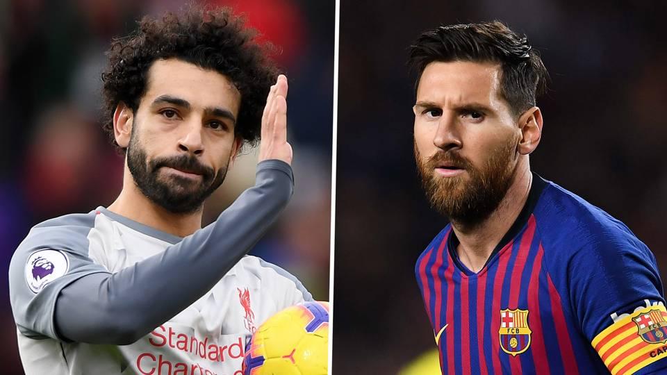 Mohamed Salah Lionel Messi Liverpool Barcelona 2018