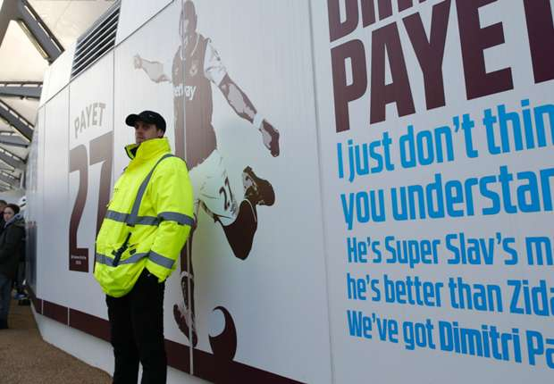 Have West Ham stationed a steward to guard Payet banner from angry fans?