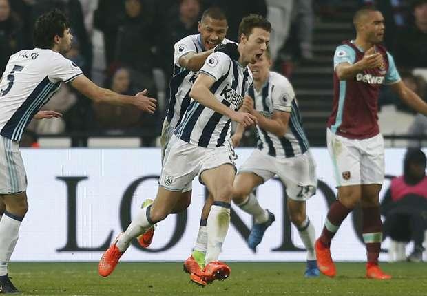 West Ham 2-2 West Brom: Evans denies Hammers at the last