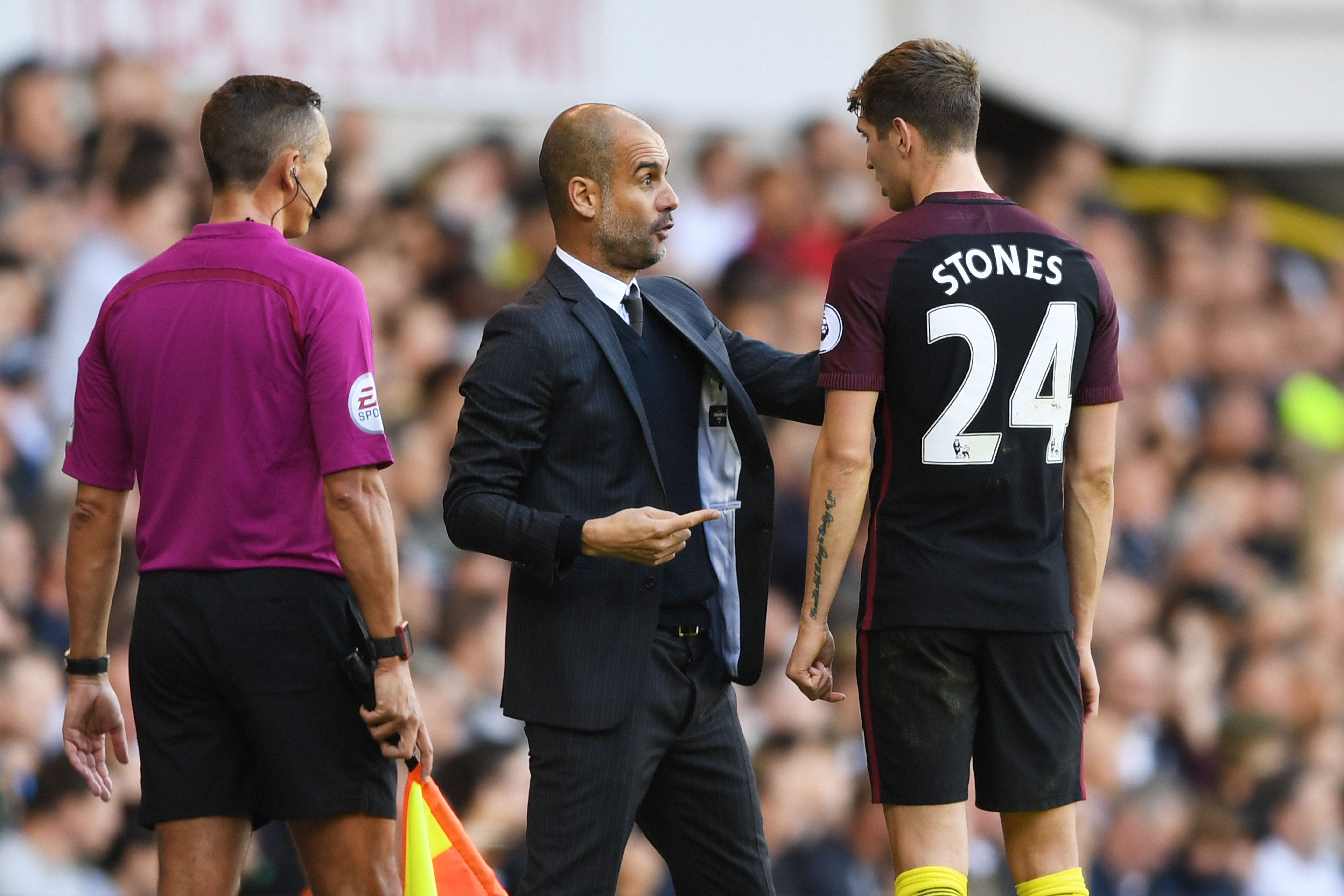 Pep Guardiola John Stones Manchester City