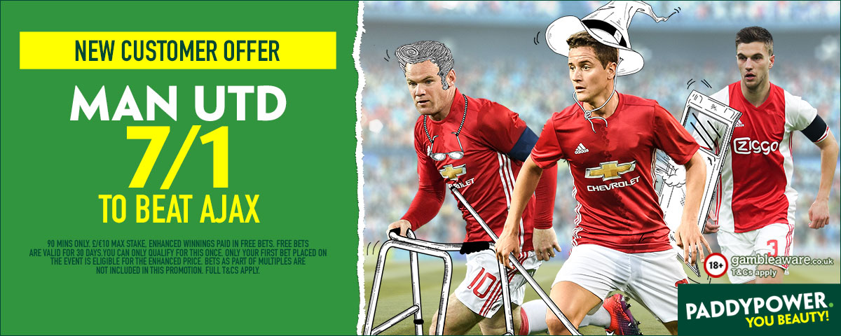 GFX Ajax Manchester United enhanced betting