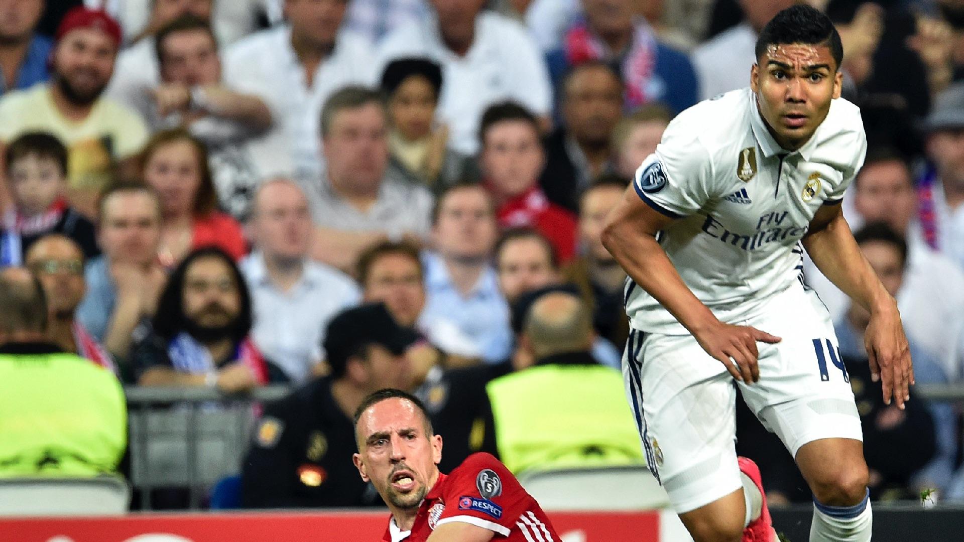 Casemiro Franck Ribery Real Madrid Bayern Munich UCL 18042017