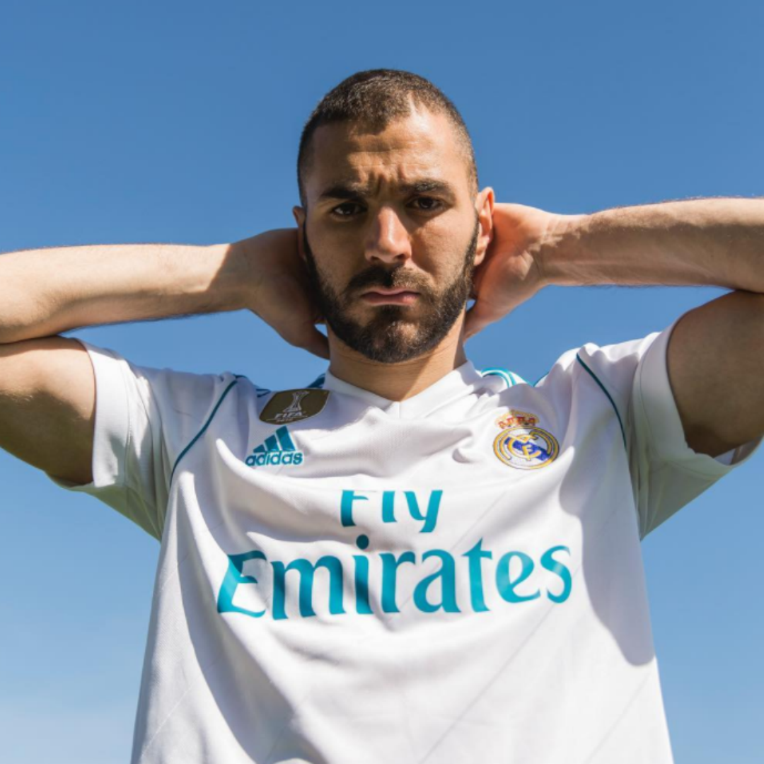 Real Madrid 1718 home benzema