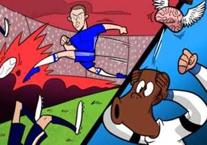 Kurt Zouma n'en croyait pas ses yeux après le but superbe de Nemanja Matic samedi contre Tottenham (4-2) en demi-finale de FA Cup !