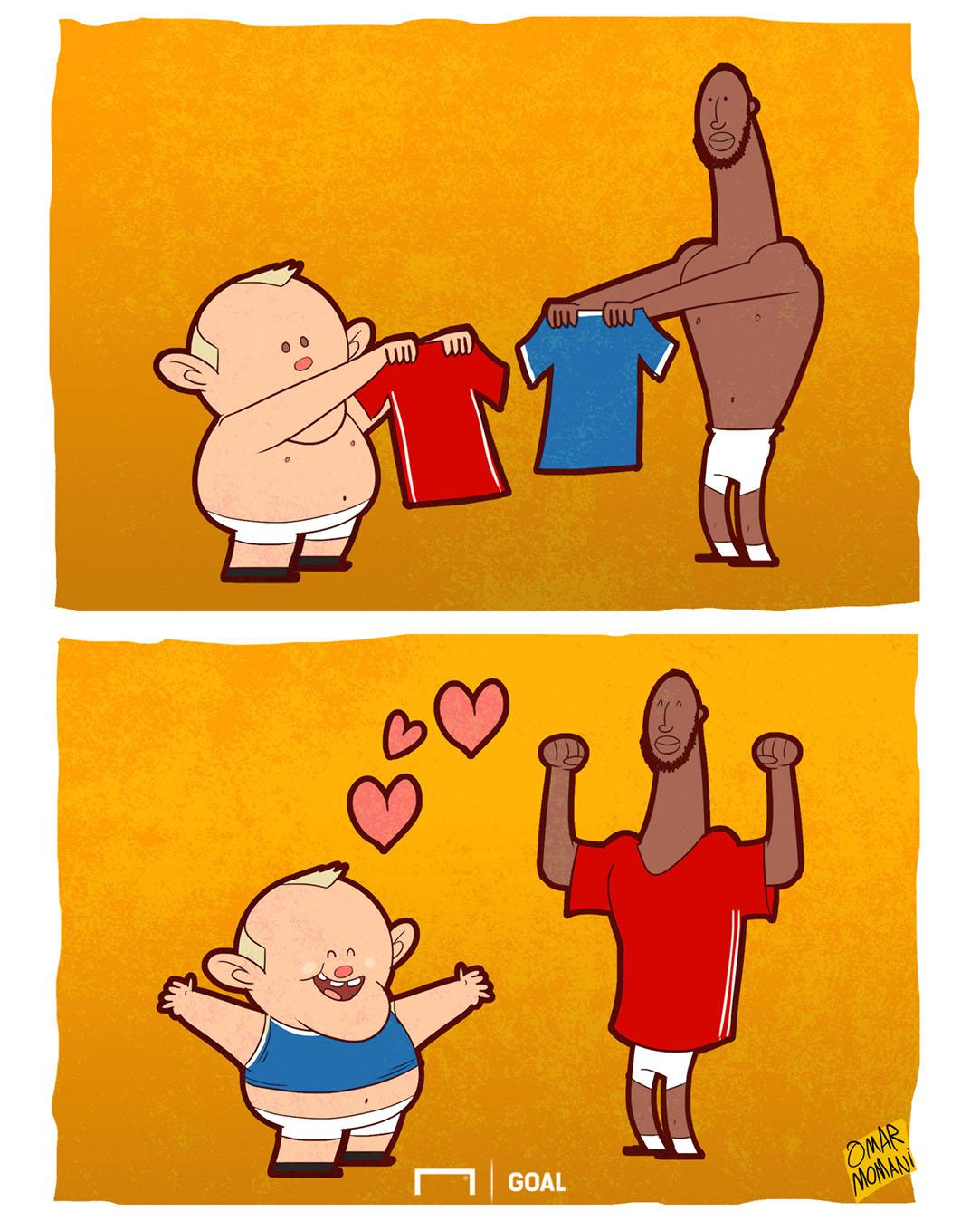 Wayne Rooney Romelu Lukaku cartoon