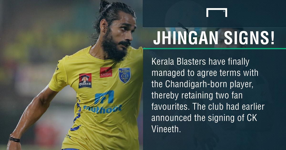 ISL: Kerala Blasters retain Sandesh Jhingan